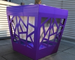 Test pot violet